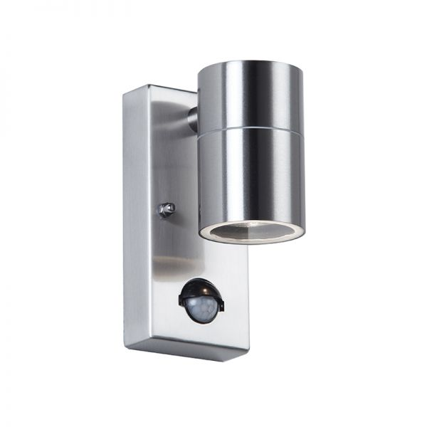 Exterior lighting modern and traditional lighting for homes in canon ssteel down wall light with pir aloadofball Choice Image